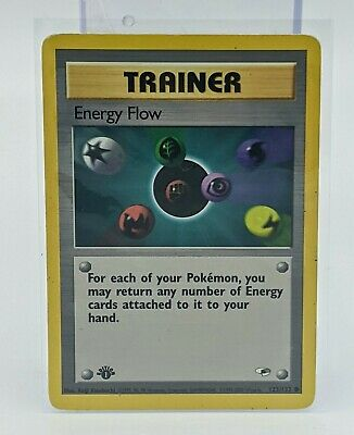 Energy Flow 122/132 1st Edition Gym Heroes Trainer Pokemon Card