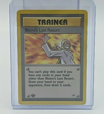 1st edition Pokemon BLAINE'S LAST RESORT Card GYM HEROES Set 105/132 First Ed