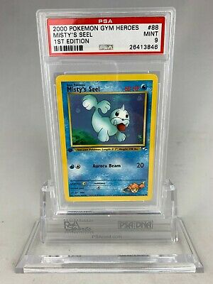 PSA 9 Mint Pokemon 1st Edition Misty's Seel Gym Heroes