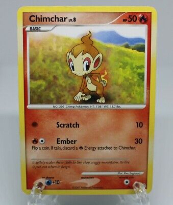 Chimchar Pokemon TCG - Diamond and Pearl - 76/130 - Common - (LP) Lightly Played
