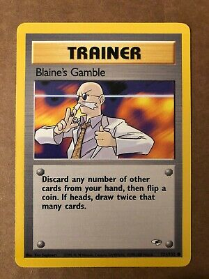 Pokemon Blaine's Gamble 121/132 Gym Heroes NM See Pictures