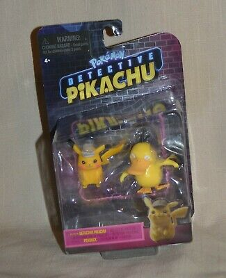 NEW - Pokemon Detective Pikachu & Psyduck Collectible Toy Figures