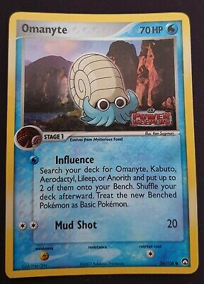 Pokemon EX Power Keepers Omanyte 56/108 REVERSE