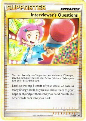 Interviewer's Questions - 77/95 - Uncommon - HS Unleashed - NM - Pokemon