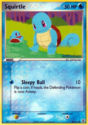 Squirtle - 82/112 - Common - EX FireRed & LeafGreen - NM - Pokemon