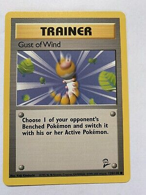 Pokemon Gust of Wind Trainer Card 120/130 Base Set 2 NEW NEVER PLAYED!!!!