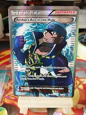 Pokemon card Archie's Ace In The Hole 157/160 Primal Clash full art ultra rare