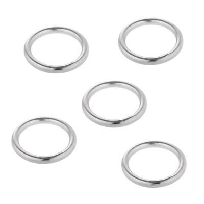 Кольца 5pcs Smooth Welded Polished 304