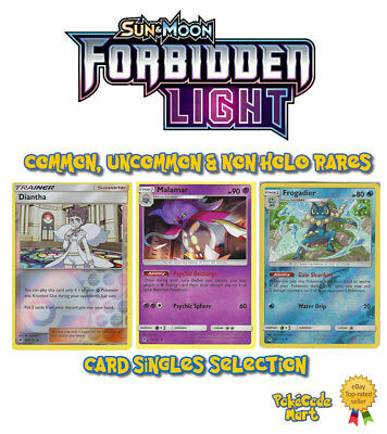 Pokemon Forbidden Light Card Singles Selection: Common, Uncommon, Rares + RevHol