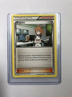 Brigette Trainer Pokemon Card 134/162 Breakthrough Near Mint Minus Condition NM-
