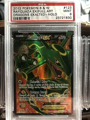 Pokemon Rayquaza EX Full Art #123 Black & White Dragons Exalted PSA 9 MINT!