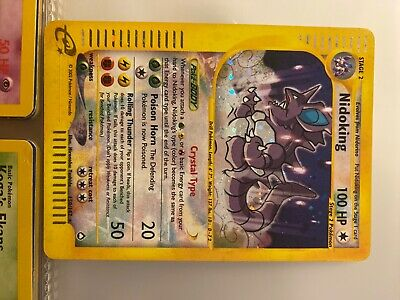 pokemon card nidoking 150/147 holo rare aquapolis mint condition