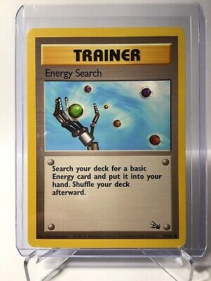Pokemon Fossil Set Trainer Energy Search 59/62