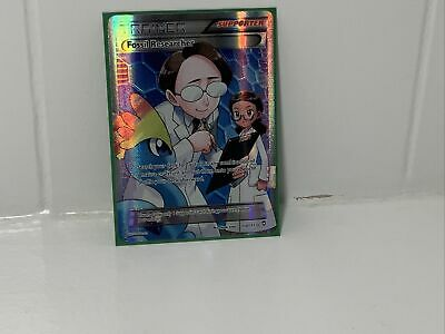 POKEMON Fossil Researcher 110/111 - XY Furious Fists Ultra Rare Full Art Holo LP