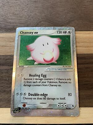 Pokemon Chansey Ex 96/109 RARE Holo Foil Ex Ruby And Sapphire