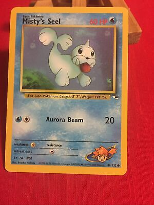 Misty's Seel 88/132 Gym Heroes - Common Pokemon Card - NM
