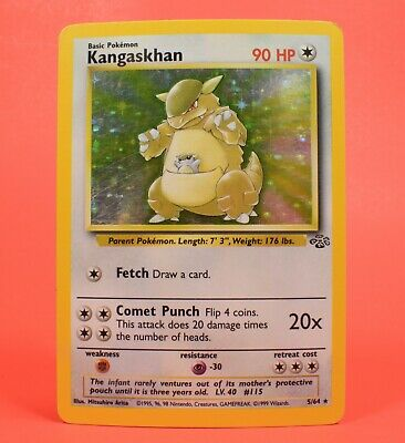 Pokemon TCG WOTC Card English Holo Rare Kangaskhan Jungle Set 5/64