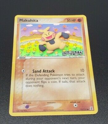 Makuhita 75/113 EX Delta Species Holo Pokemon Card - MP