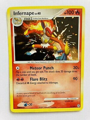 Pokemon Diamond & Pearl Rare Holo Infernape #5/130 LP