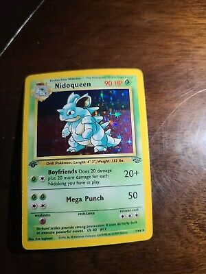 Pokemon 1st Edition Jungle Nidoqueen Holographic holo