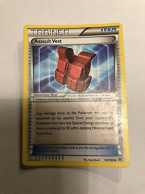 Assault Vest #133 Pokemon XY Breakthrough TCG Card