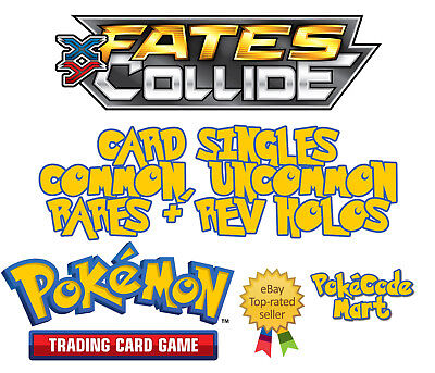 Pokemon XY Fates Collide Cards: Common, Uncommon, Rares + Rev Holos /124