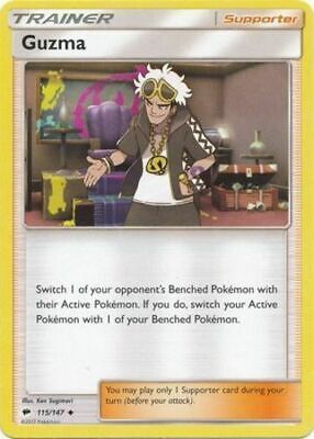Guzma115/147 Burning Shadows Uncommon Near Mint NM Pokemon DNA GAMES