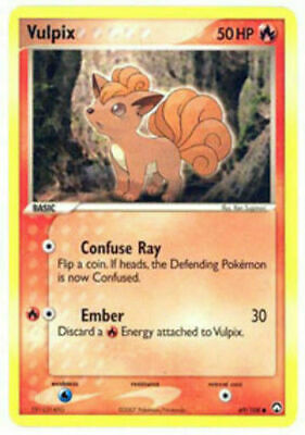 Vulpix 69/108 Power Keepers Non Holo Common Near Mint NM Pokemon DNA GAMES