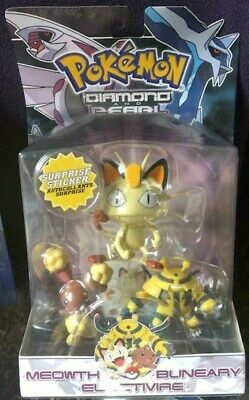 New Jakks Pacific Pokemon Diamond Pearl Meowth Buneary Electivire figures 2007