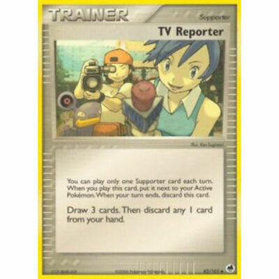 TV Reporter 82/101 Dragon Frontiers Uncommon Near Mint NM Pokemon DNA GAMES