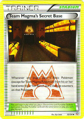 Team Magma's Secret Base 32/34 Double Crisis Uncommon -LP- Pokemon DNA GAMES