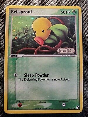 Bellsprout 49/92 Legend Maker STAMPED Holo Common Near Mint NM Pokemon DNA GAMES