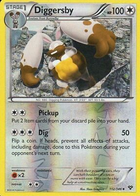 Diggersby 112/146 XY Reverse Holo Uncommon Near Mint NM Pokemon DNA GAMES