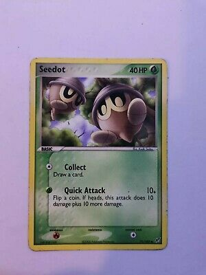 Pokemon Card Seedot 71/107 EX Deoxys series / Set Great Condition