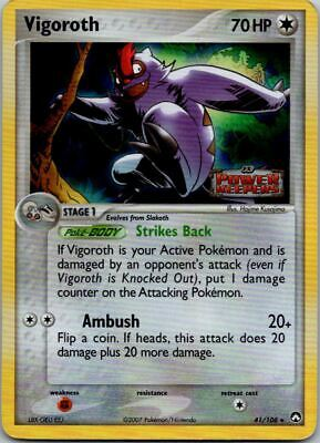 Vigoroth 41/108 Holo Stamped Ex Power Keepers Pokemon Card ~ Played