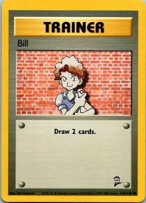 Bill 118/130 Base Set 2 Pokemon Card ~ LP