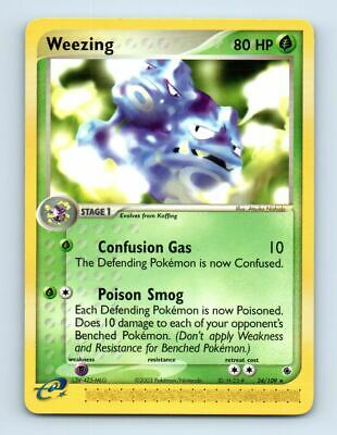 Weezing 24/109 Non-Holo Ruby & Sapphire Pokemon Card ~ LP
