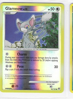 Pokemon Glameow 83/130 Diamond and Pearl Common Near Mint Condition