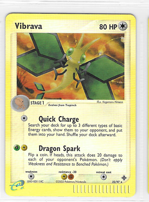Pokemon Vibrava 22/97 Dragon Uncommon Near Mint Condition