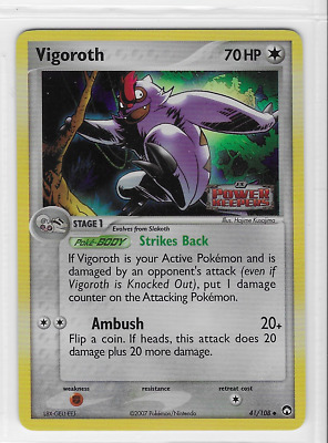 Stamped Pokemon Vigoroth 41/108 Power Keepers Uncommon Near Mint Condition