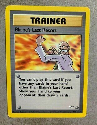 Blaine's Last Resort 105/132 Gym Heroes - Uncommon Pokemon Card - NM/Mint