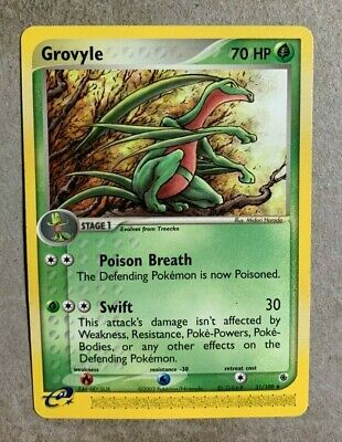 Grovyle 31/109 EX Ruby & Sapphire - Uncommon Pokemon Card - EXCELLENT