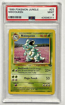 Nidoqueen 1999 Pokemon Jungle Set 23/64 Non Holo Rare PSA 9 Base TCG Card #23