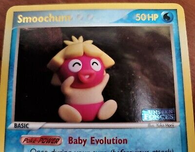 Pokemon Smoochum 31/115 Rev Holo Stamped Ex Unseen Forces RARE Card mint