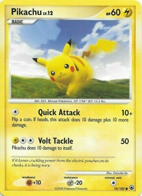 Pikachu 70/100 Majestic Dawn Common Moderate Play Pokemon DNA GAMES