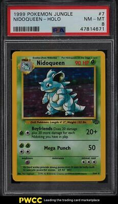 1999 Pokemon Jungle Holo Nidoqueen #7 PSA 8 NM-MT