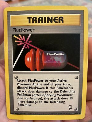 PlusPower - 113/130  - Uncommon NM Base Set 2 Pokemon Near Mint