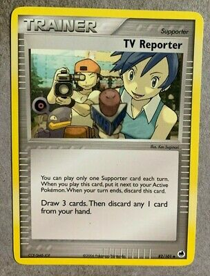 TV Reporter 82/101 EX Dragon Frontiers - Uncommon Pokemon Card - NM/Mint