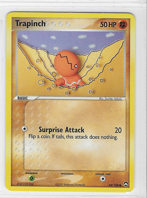 Pokemon Trapinch 68/108 Power Keepers Common Near Mint Condition