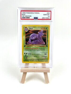 1999 Pokemon Fossil 1st Edition Muk - PSA Gem Mint 10 - #28 - Population 150